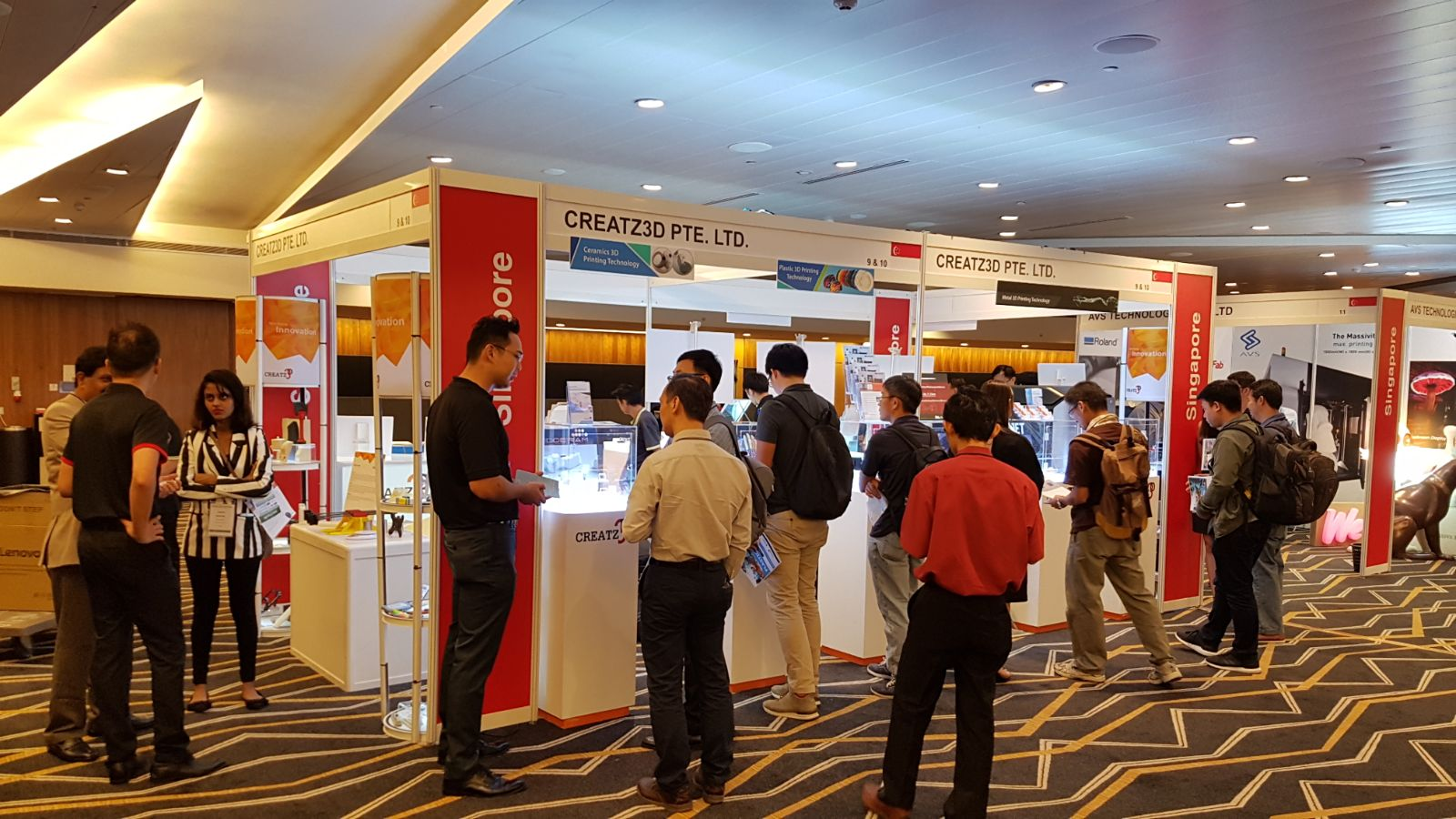 D Printing Exhibition Singapore : Inside d printing conference expo singapore creatz