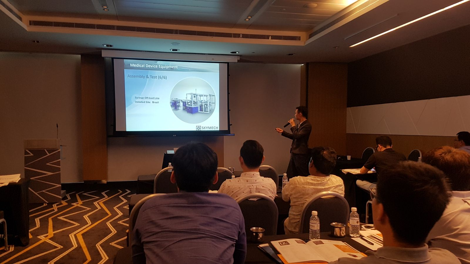 Mr. Ang Beng Seng of Skymech presenting on System Integration