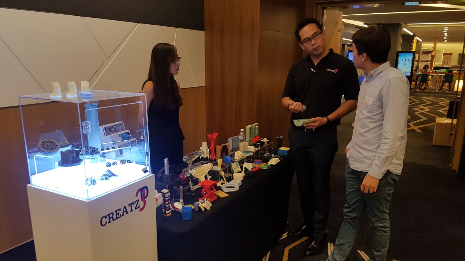 Our engineers explaining about the potential of 3D printing