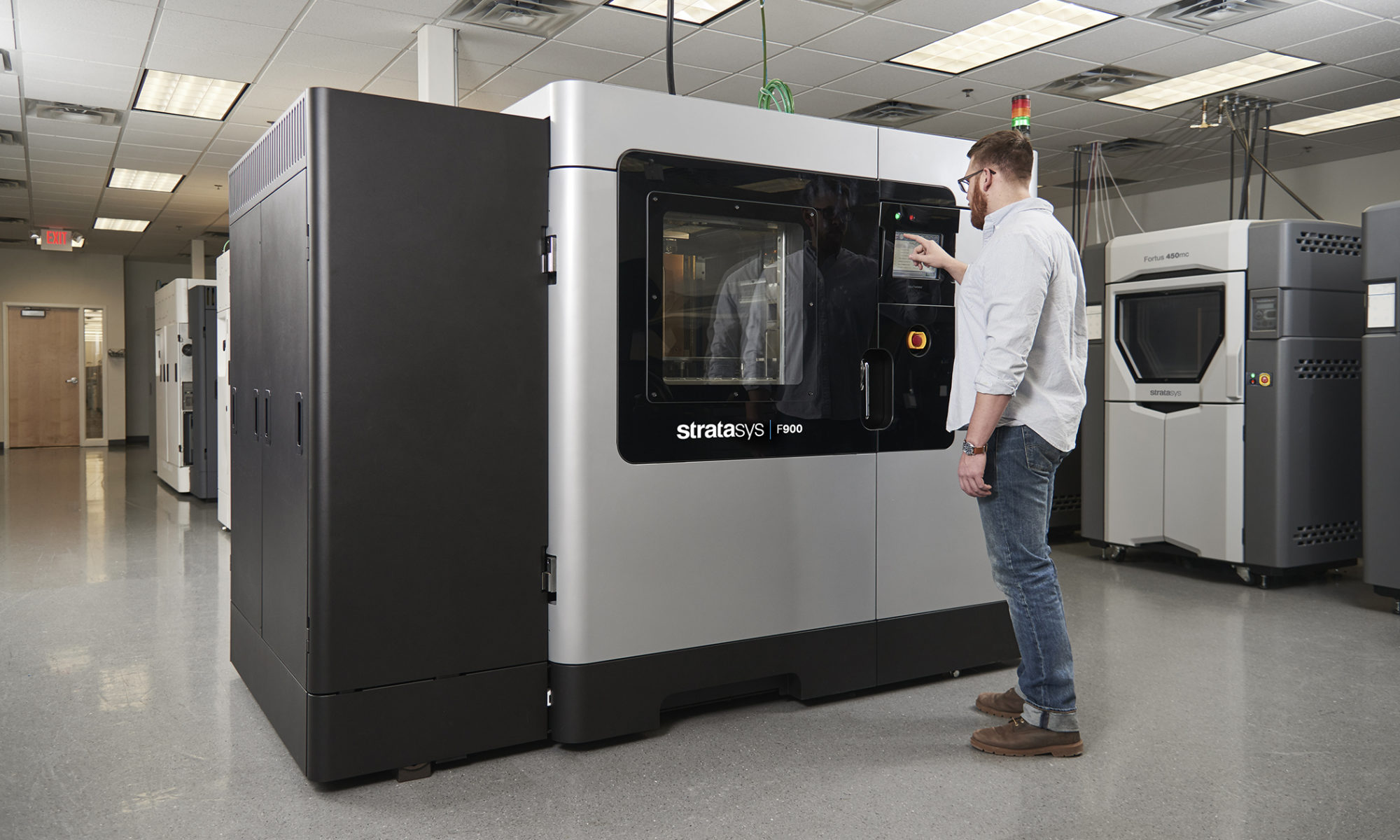 The new F900 Production 3D Printer is factory-floor ready with MTConnect interface and composite material compatibility.