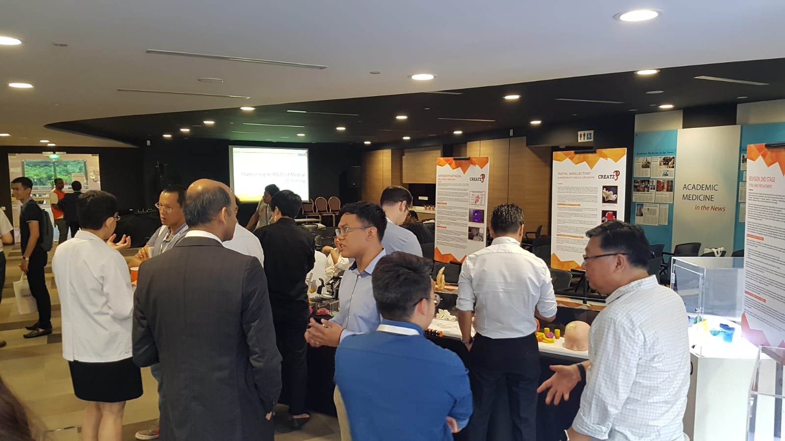 Networking session at Creatz3D Medical Symposium
