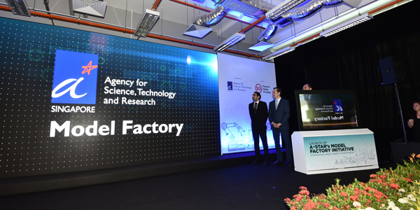 Senior Minister of State for Trade and Industry Dr. Koh Poh Koon at the facility's opening
