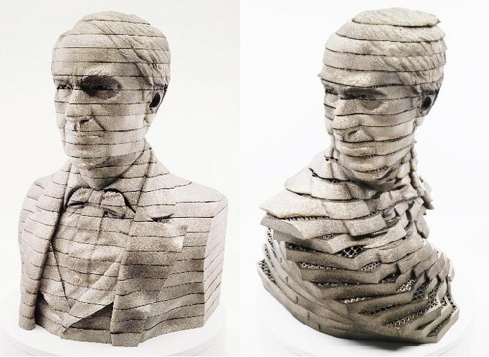 Arcam EBM Titanium 3D printed Thomas Edison bust statue