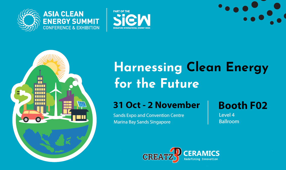 Asia Clean Energy Summit ACES 2018 - Creatz3D Ceramics