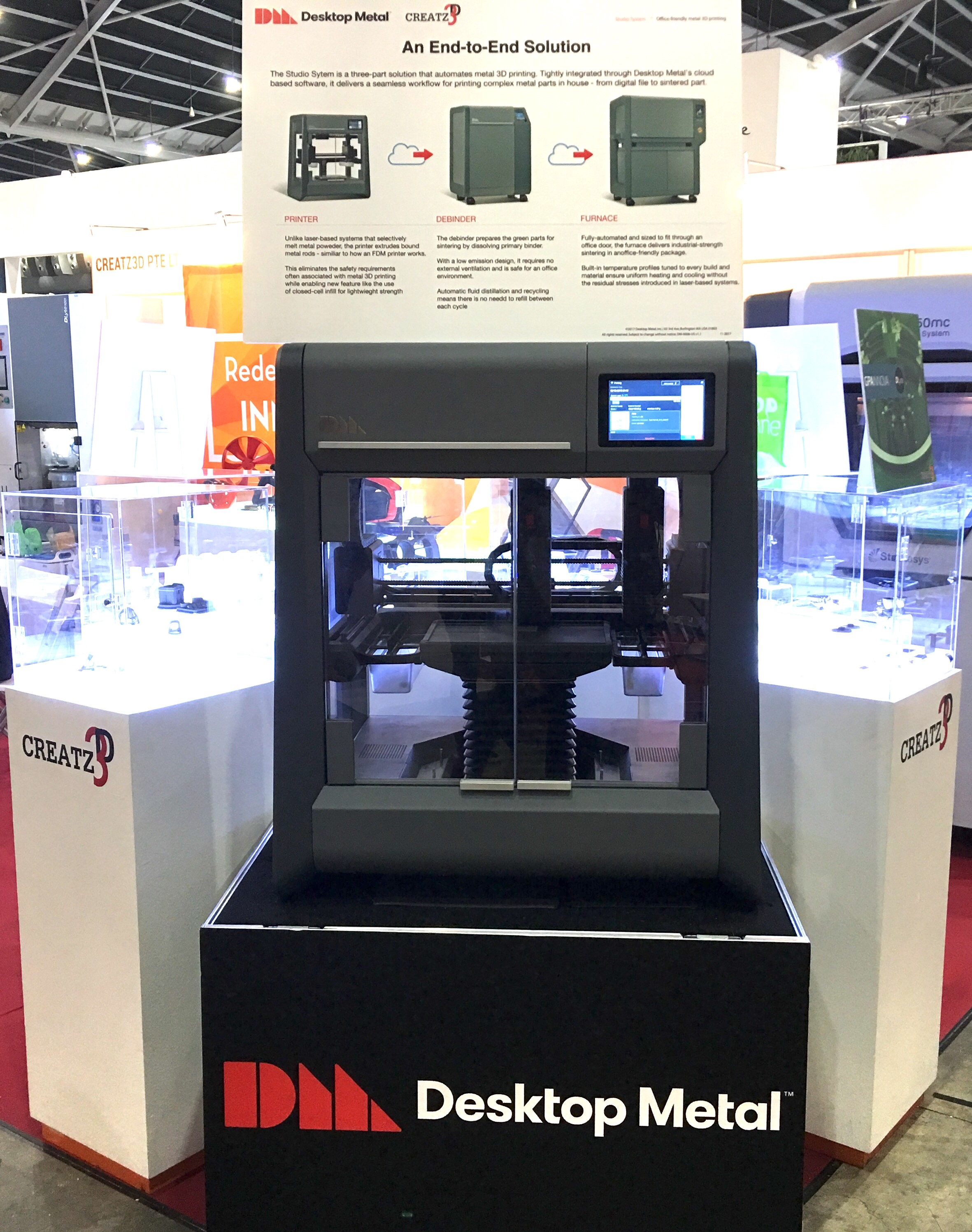 Working set of Desktop Metal Studio System Printer at Industrial Transformation Asia Pacific 2018