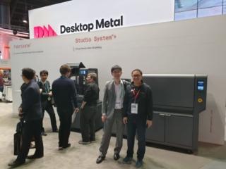 Sean Looi (Creatz3D) with CK Kan (Desktop Metal)