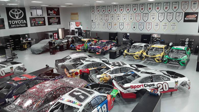 JGR has 5 Stratasys 3D printers (back far left) that run nearly 24/7.