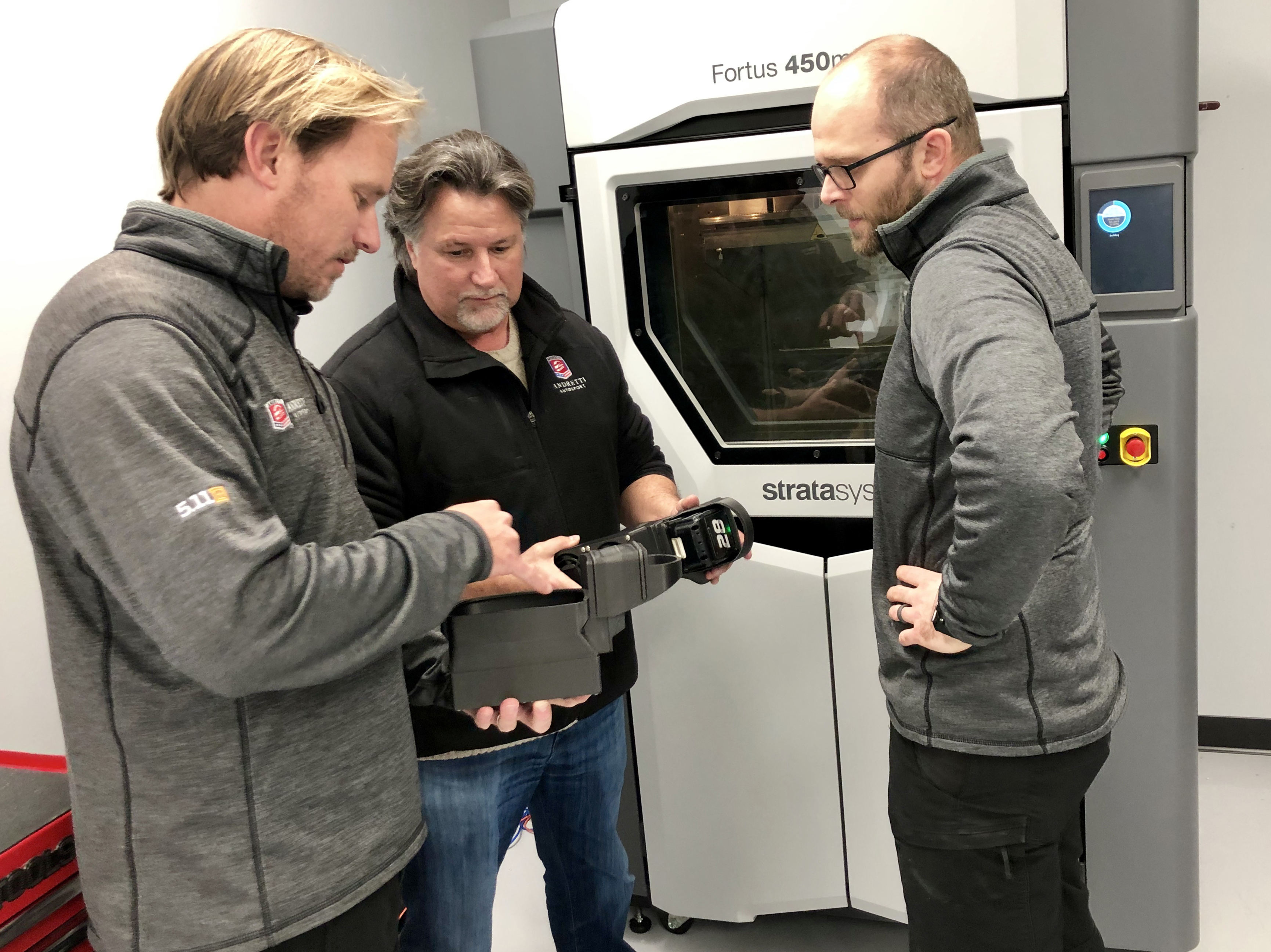 The team at Andretti leverage the Stratasys Fortus 450mc 3D Printer to enhance design and development.
