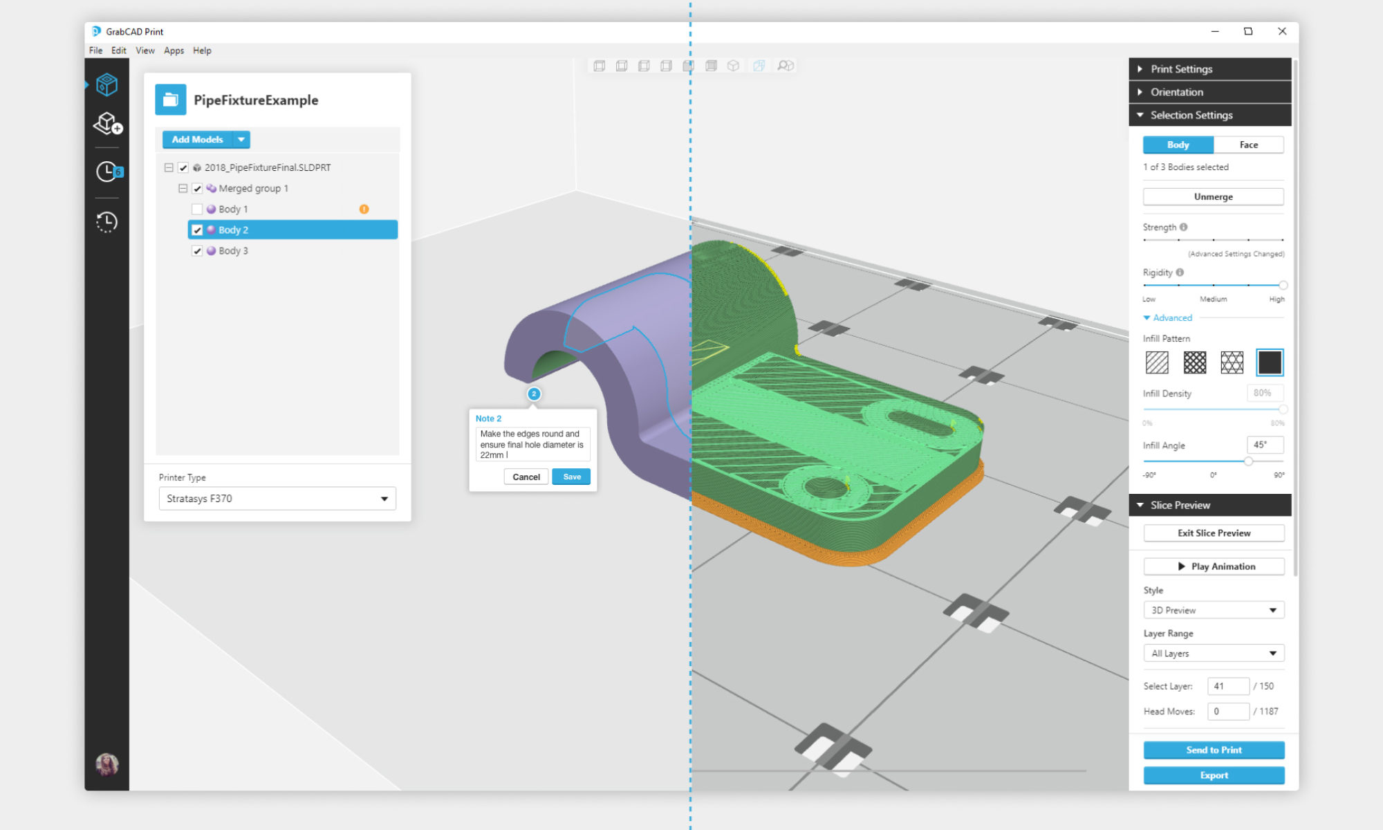 GrabCAD Advanced FDM eliminates the CAD-to-STL conversion process.