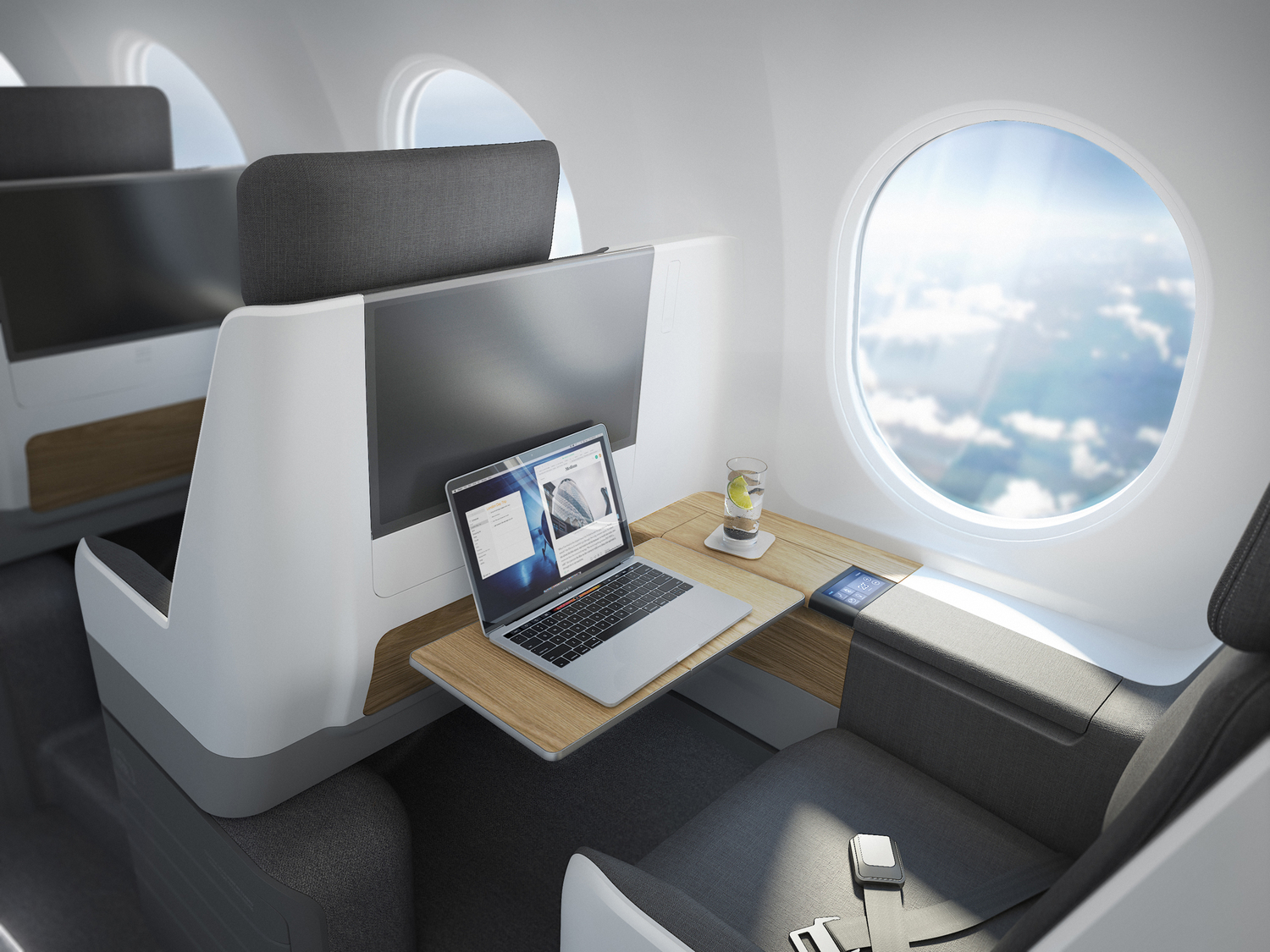 Business Class interior of Boom Supersonic Overture