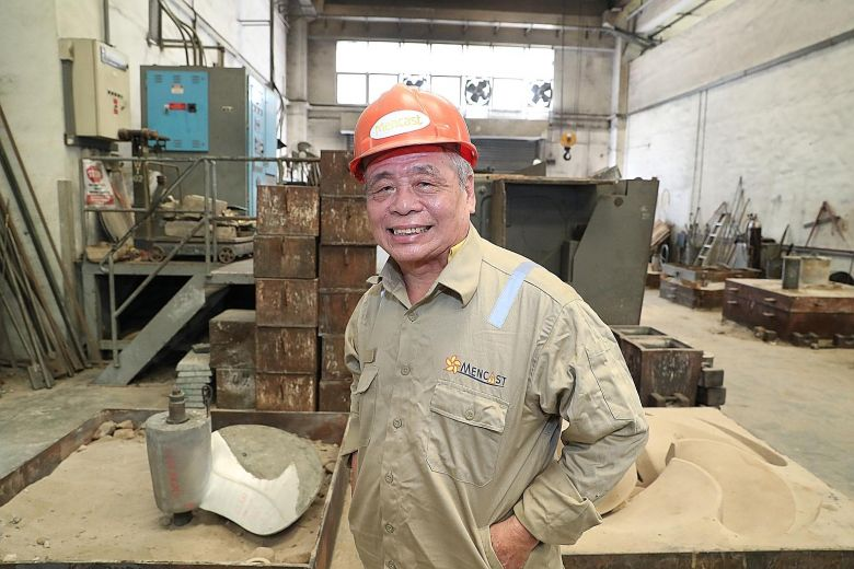 64-year-old Mr. Chan Ban Kiong, is now a 3D operator where he makes prototypes for ship propellers by maniuplting digital files instead of doing it by hand.