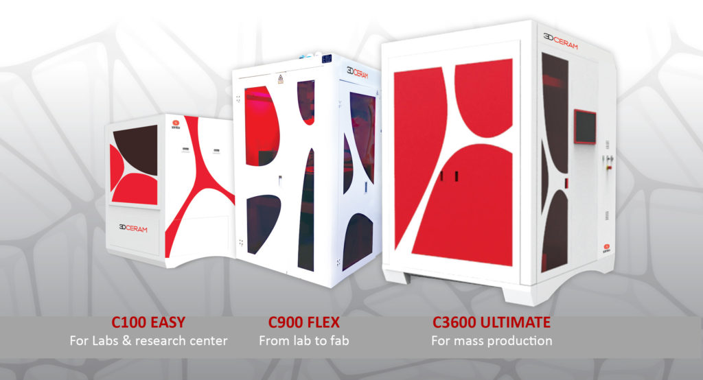 3DCeram 3D Printers - C100 EASY, C900 FLEX, C3600 ULTIMATE