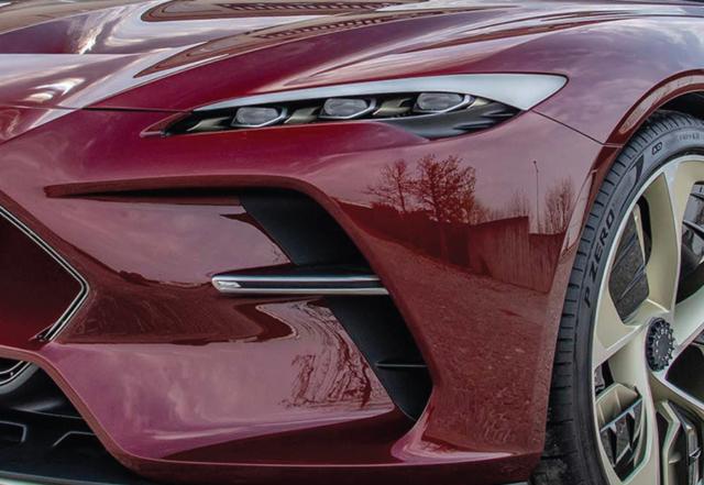 Close-up of Italdesign DaVinci concept car.