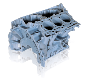 Engine Prototype printed with VeroBlue on the Eden350V