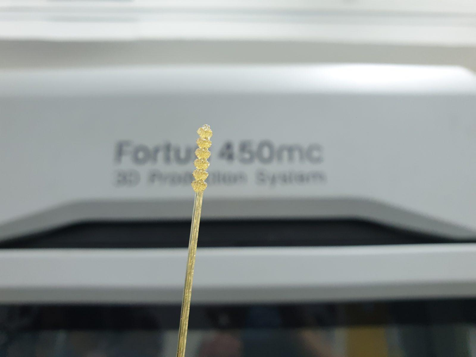 3D Printed Nasal Swabs using ULTEM1010™ material printed from a Stratasys F450mc.