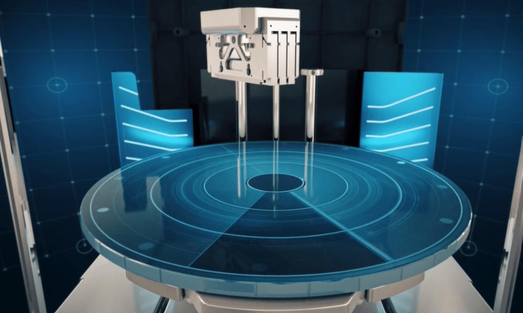 Patented Rotating Build Platform of J55