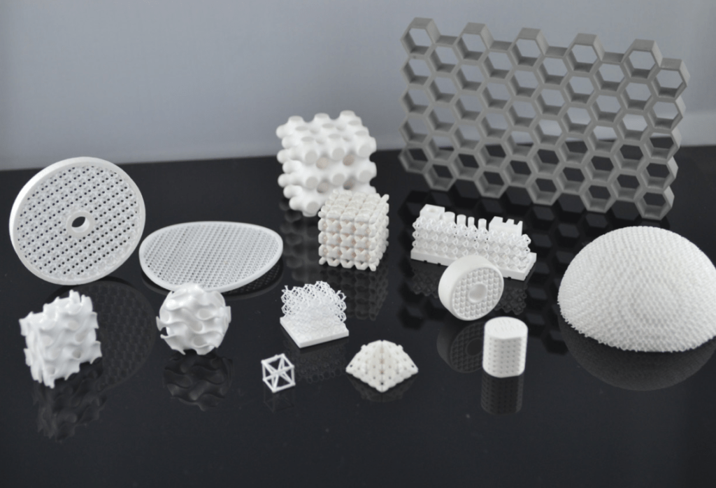 Applications made with 3DCeram's ceramic materials.