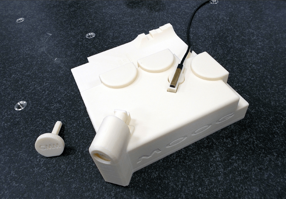 Stratasys 3D printing technology allows CMM fixtures to be produced in hours instead of weeks.