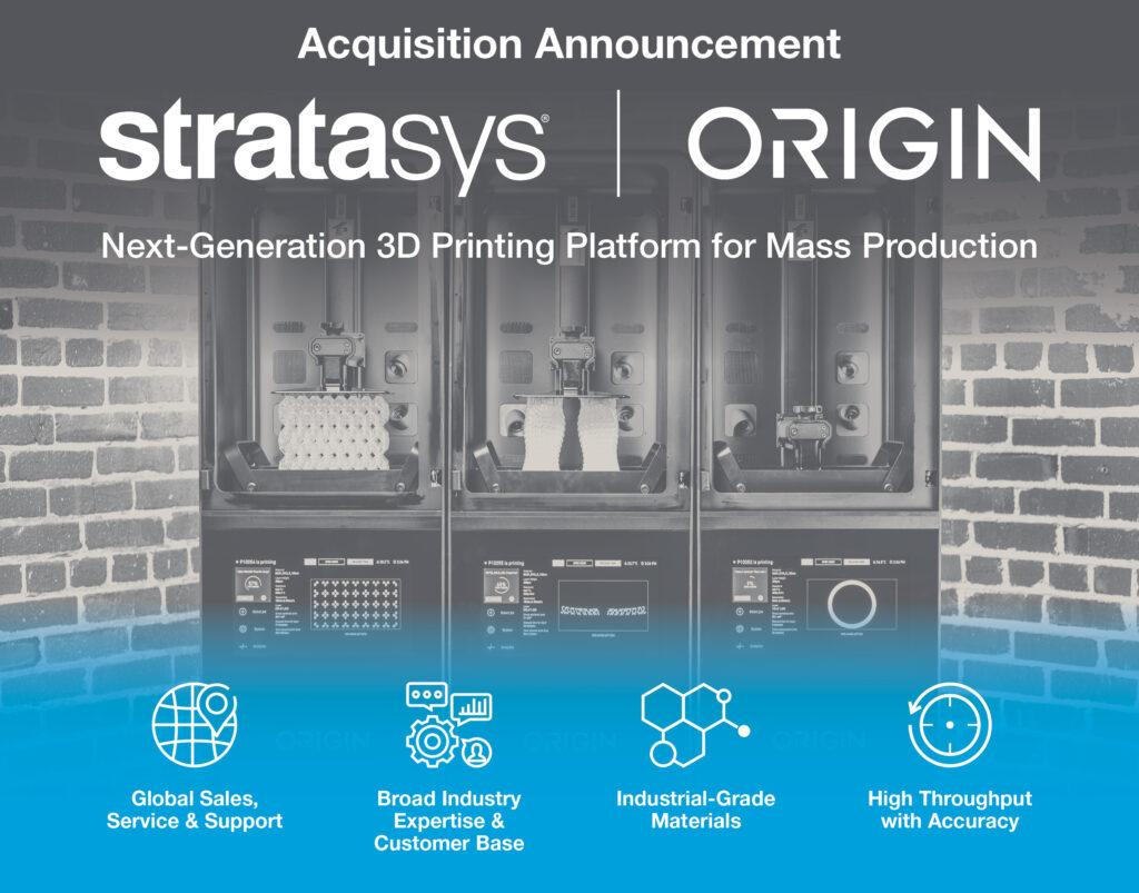 Stratasys acquires 3D Printing Polymer Startup, Origin in $100 million deal