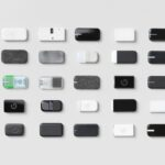 5 x 5 array of Google Jacquard tag prototypes 3D printed with Stratasys PolyJet 3D printers.