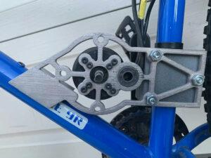 An Electric Bike motor mount 3D printed with Studio System 2.